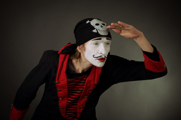 portrait of mime pirate