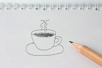 "Notiz ""Kaffeetasse"""