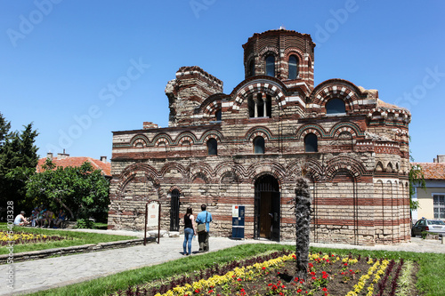 Nesebar, Bulgaria - 06/23/2013: People visit Old Town on June 23