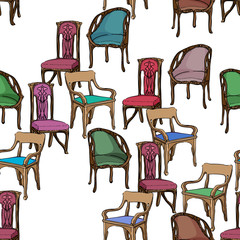 art nouveau furniture pattern