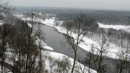 neris river flow floe downhill park private prestigious houses