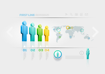 People infographic design template