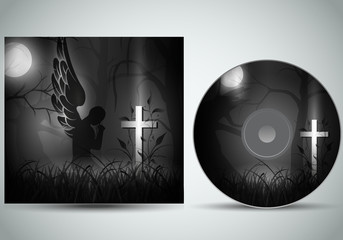gothik cd cover template