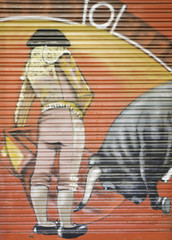 Graffiti bullfighter