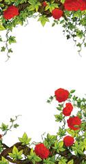 The rose frame - border - template