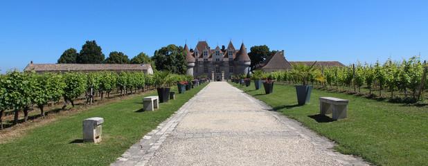 Panoramique Château fort de Monbazillac, Aquitaine
