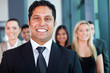 indian businessman with colleagues