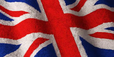 British Flag - Fluffy