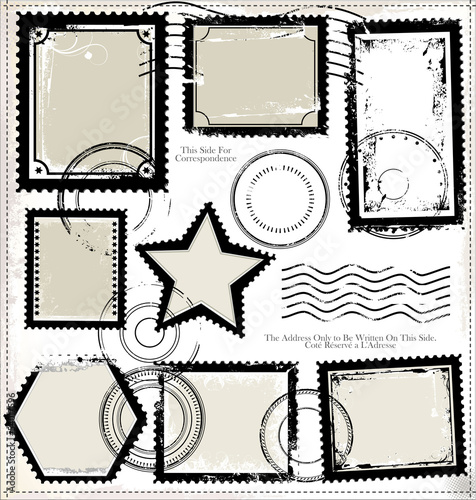 Set of post stamp
