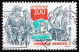 Postage stamp France 1997 Basque Corsairs poster