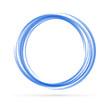 Blue vortex logo vector background