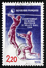 Postage stamp France 1986 Volleyball, Sport
