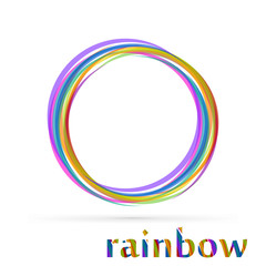 Vortex rainbow vector logo