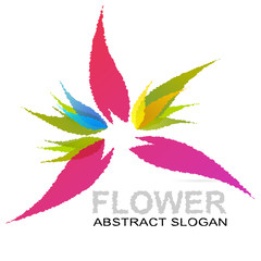 Abstract flower vector logo