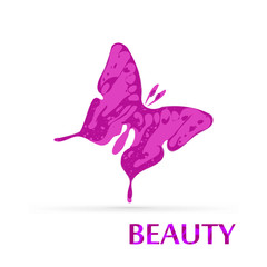Butterfly vector beauty logo