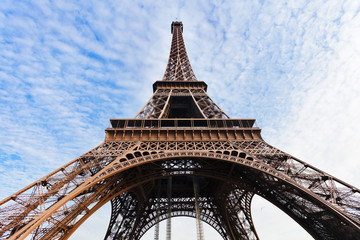 supports of Eiffel Tower in Paris