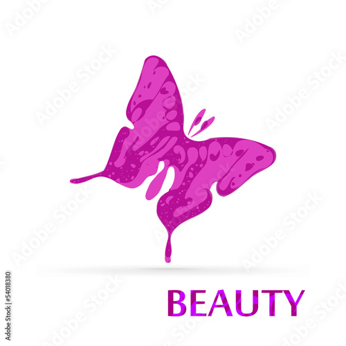 Butterfly vector beauty logo