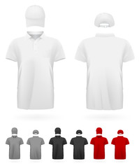 Polo shirt uniform template