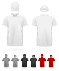 Polo shirt uniform template