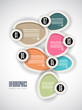 Infographics concept background to display