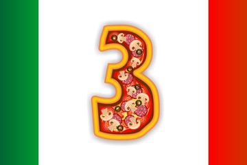 PIZZA - NUMBER - 3