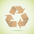 Wooden recycle icon