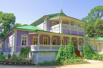 house-museum in the estate Spassky-Lutovinovo. Russia.