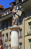 Sculpture of Moses holding the Ten Commandments, Bern, Switzerla poster