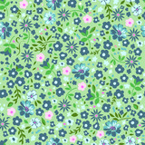 Cute ditsy seamless floral background