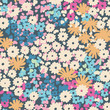 Vector ditsy floral seamless background
