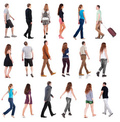 """collection """" back view of walking people """"."""