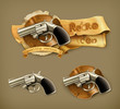 Gun, retro icon