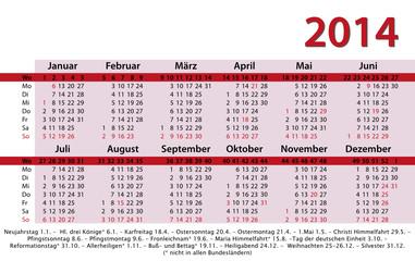 Kalender 2014 pink