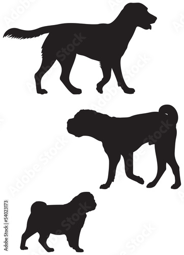 Dog breed silhouettes 3