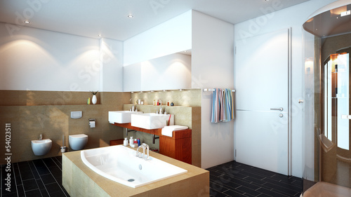 Edles Badezimmer - luxury bathroom in hotel