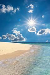 Insel, Traumstrand, Sonnenstrahlen