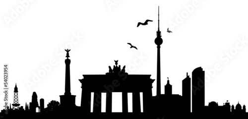 skyline berlin stockfotos und lizenzfreie vektoren auf bild 54023954. Black Bedroom Furniture Sets. Home Design Ideas