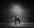 sad businessman sitting