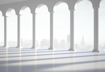 hall with column