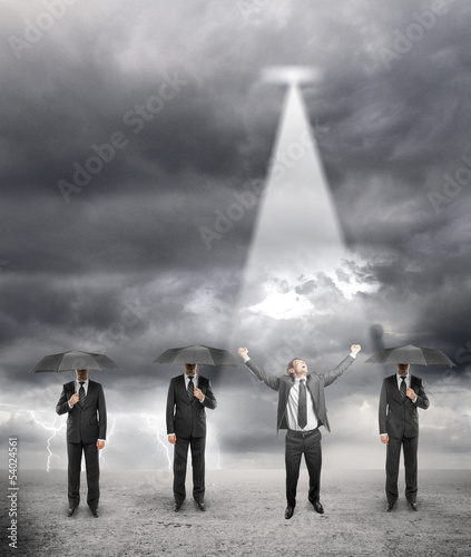three businessman standing