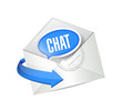 chat envelope mail illustration design