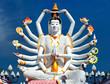 Thailand landmark in koh Samui, Shiva sculpture and Buddhist tam - 54024974