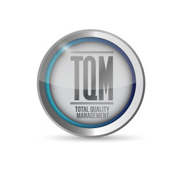 tqm total quality management button.