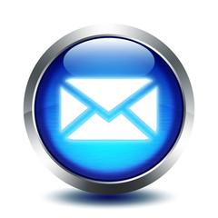 blu glass button - mail