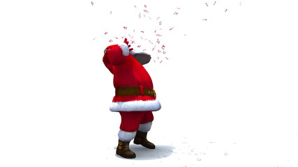 Santa Dances with Headphones and Music Notes