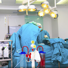 Medical team performing surgery
