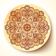 Ornate vector plate with indian style ornament