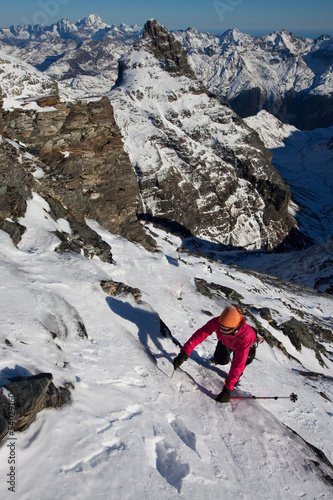 Winter alpine climbing