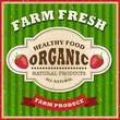 Retro Farm Fresh Poster Design