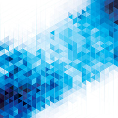 Abstract modern geometric blue background.
